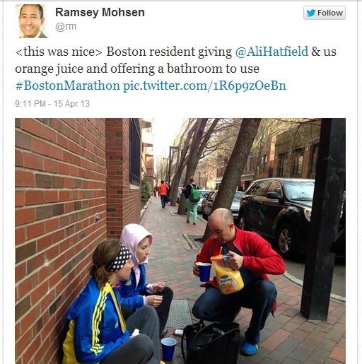 usatodaysports:  Examples of overwhelming kindness following the Boston Marathon explosions