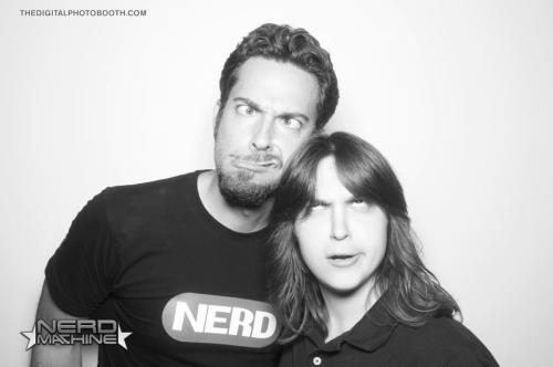 weneedaplanagainstzombie:  MY INCREDIBLE SAN DIEGO COMIC CON 2012  wow u are one lucky duck :O Nathan idk who the 2nd guy is and Joss and then freaking Kevin Sobo holy snap! u lucky u :O