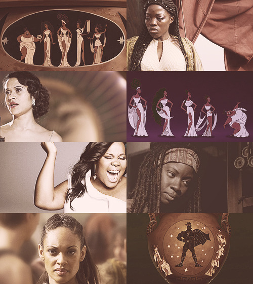 We are the Muses. Goddesses of the arts and proclaimers of heroes.