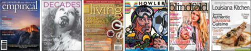 "Magazine Vital Signs: Best Magazines of 2012  Big budgets and wide distribution aren't enough on their own to sustain a magazine. Witness the demise of Holmes: The Magazine To Make It Right after less than two years of publication. Occasionally, it's the low-budget, kitchen table–produced new periodicals that end up showing the most resiliency. An example of a past ""best magazine of the year"" published on a shoestring is hand-sewn Vintage, which against this reviewer's expectations has published three issues and continues to thrive."