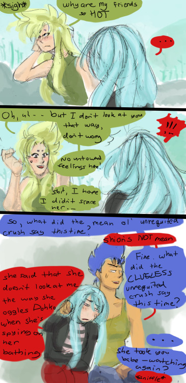 Poor Albafica. Poor Manigold. ~*+Let's Make a Circle of Unrequited Feelings+*~ *sings*