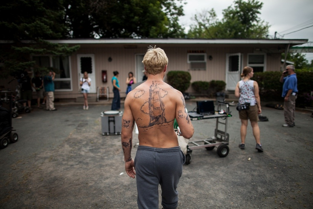 saidtheboytothegirl:  Ryan Gosling on set of The Place Beyond The Pines.