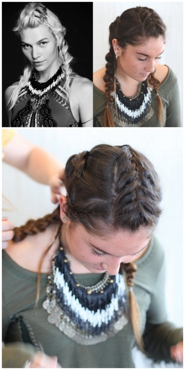 truebluemeandyou:  DIY Unicorn Braid Tutorial from Free People Blog here.