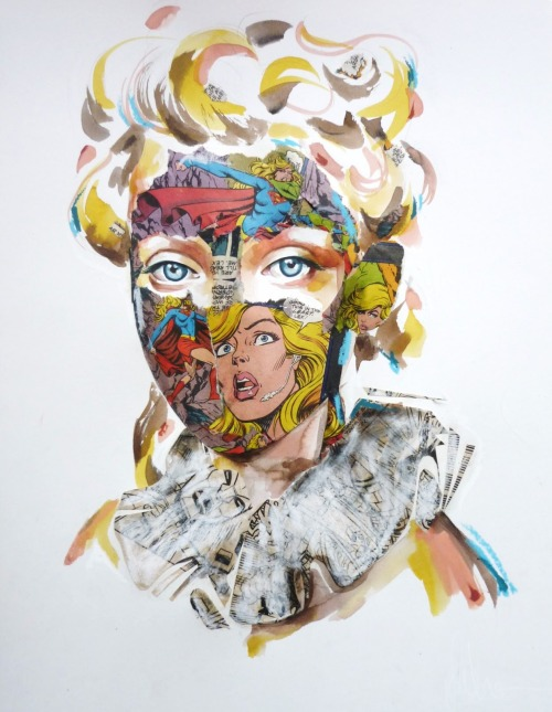Comic Book Portrait par Sandra Chevrier. Site || Facebook || MySpace (!!) || Blog