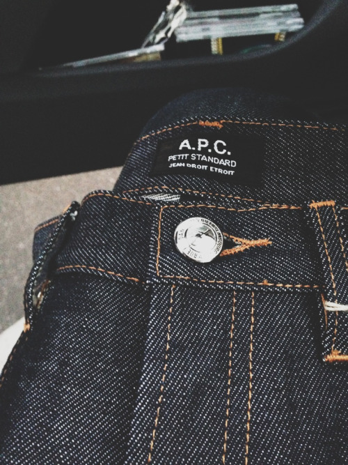 apcofficial:  janspreme:  New jeans  A.P.C. denim
