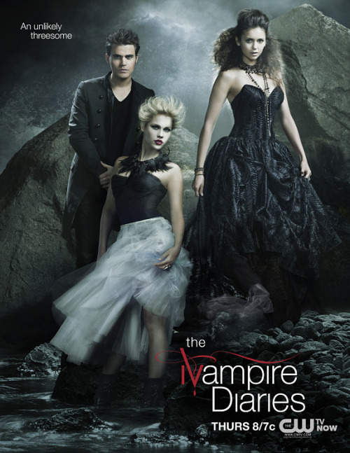 tvdstuff:  adropintheoceanoflife:  NEW TVD promo poster  The unlikely threesome