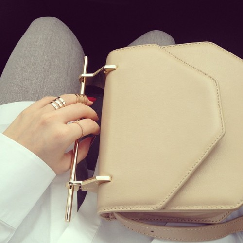 chloeruby:  Melissa Losada - M2Malletier bag and Repossi ring