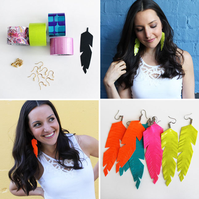 Coveting our duct tape feather earrings? Make your own with the feather earrings Brit Kit. Or, if you're not up for the DIY, go for a set of 4 readymade earrings!