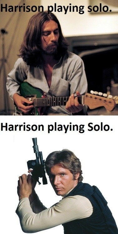 George Harrison and Harrison Ford