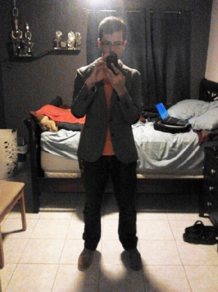 Today for college…a professor-ish look XD looks decent enough