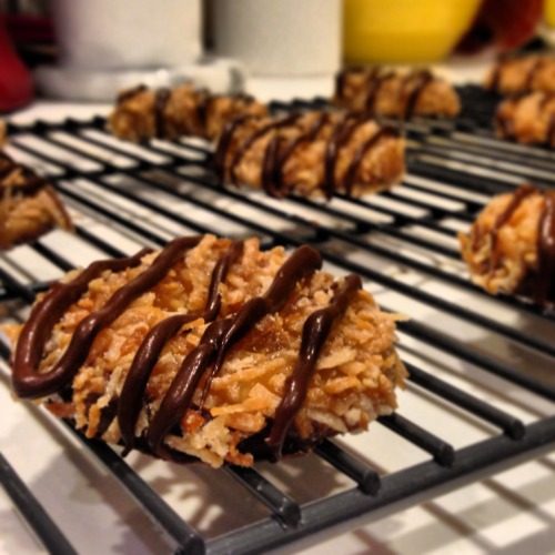 happyhealthyhopeful:  bakeddd:  Homemade Samoas/Caramel DeLites (submitted by karessnguyen)  um yes