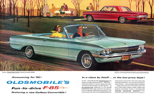 Oldsmobile advertisement. by totallymystified on Flickr.Oldsmobile advertisement.