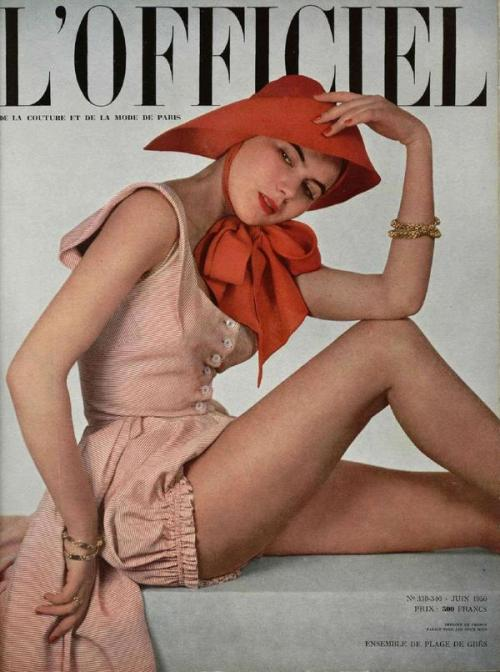 hollyhocksandtulips:  L'Officiel, 1950