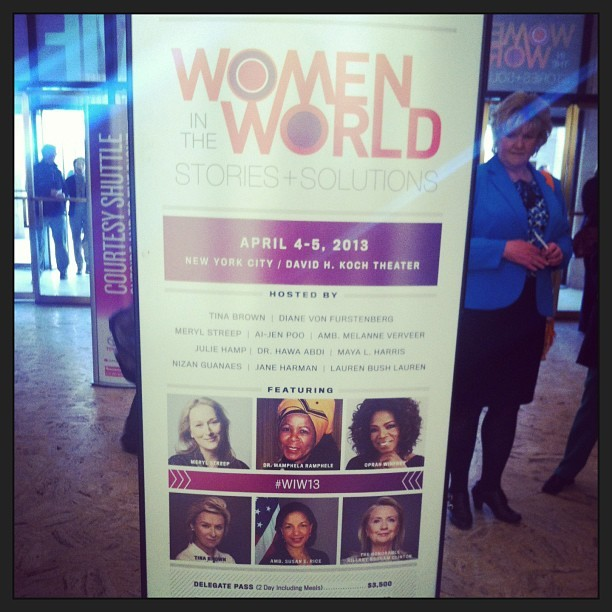 Let the excitement and #empowerment begin. #wiw13