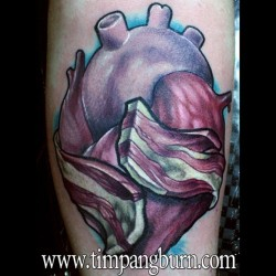 timpangburn:  Oldie but goodie! #bacon #heart #tattoo #tattoos