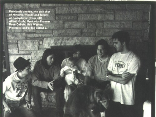 "During the recording process for ""In Utero"" in 1993."