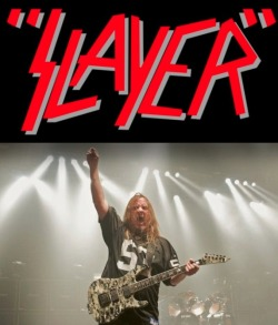 noiseymusic:  Point/Counterpoint: Should Slayer break up following the death of guitarist Jeff Hanneman? MetalSucks says yes Noisey says no   Yes. They dont even have Lombardo anymore. =(