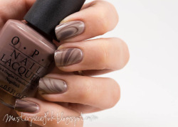 Milk chocolate water marble fail. OPI - You Don't Know Jacques Essie - Master Plan
