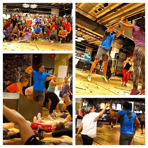 NTC last night was bananas!  Team Chris was victorious! #ntc #niketrainingclub #teamnike #fitness #makeitcount