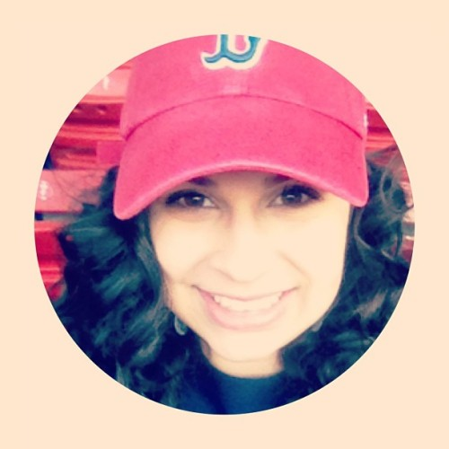 Go Red Sox #boston #strong #redsox #curls #makeup #browneyes #cap #happy #smile