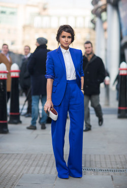 lookbookdotnu:  Blue winner ! (by Miros Duma)