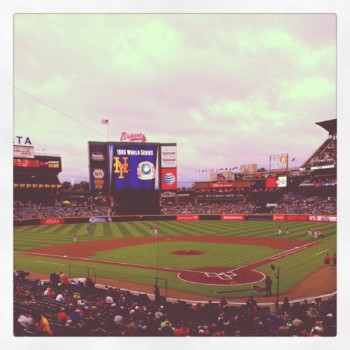 What's up killer #Braves seats! Thanks @tktalt! (at Turner Field)
