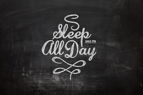 serialthrill:  Sleep all day
