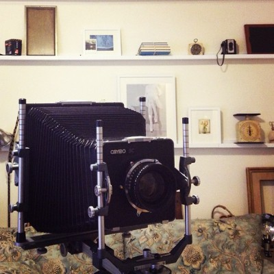 Camera of the Day.               8x10 Cambo #analogue  #film  #8x10 format #color  #black and white #slow down and take your time #composition #tool