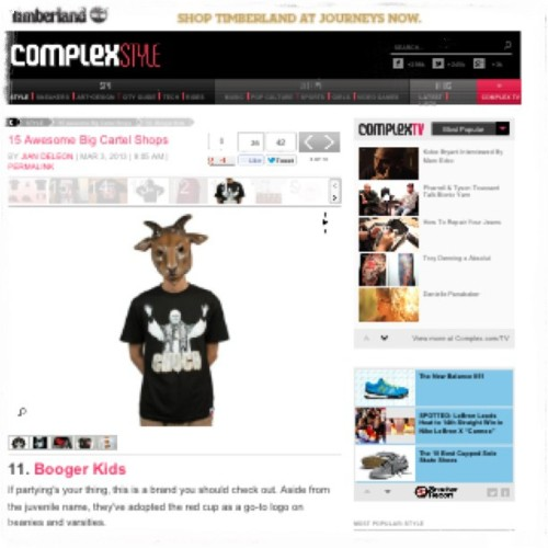 right on @complexmag … @orlycukui you should check it out too…. You guys are on the list also:) #SJ #BoogerLife #Chuch