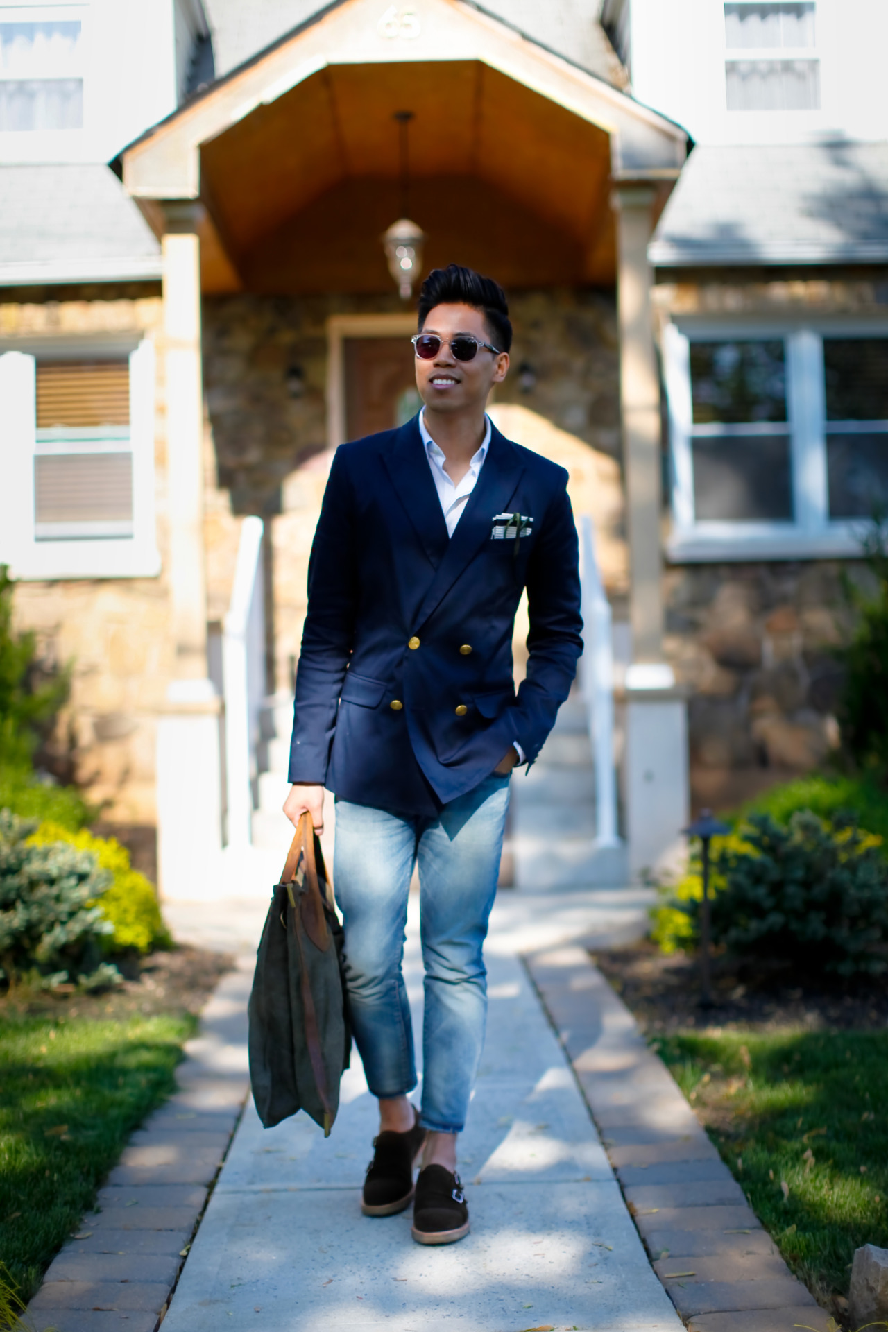 Outfit: Men's Double Breasted Blazer & Double Monk Shoes Sunday's Best - See the full post HERE FACEBOOK | TWITTER | BLOGLOVIN | PINTEREST | LOOKBOOK