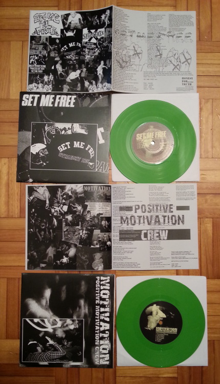 "setmefreehc:  Set Me Free x Motivation split 7"" limited to 100 copies on green wax released by Honest for Truth Records Listen: SIDE A - SIDE B buy here http://setmefreehc.bigcartel.com/"