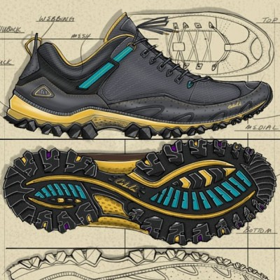 Paying the bills… #render#design#footwear#sketch#renderman#hiking#hike#outdoor#