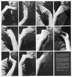 Nancy Wilson-Pajic - My Grandmother's Gestures, 1972–1973.