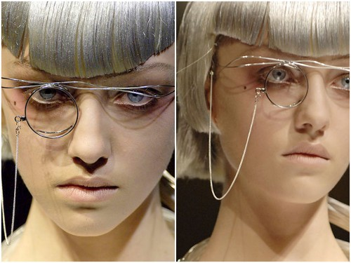 DIY Steampunk or Cosplay Inspiration: from Yohji Yamamoto Spring 2007 here. This would be such an easy DIY.
