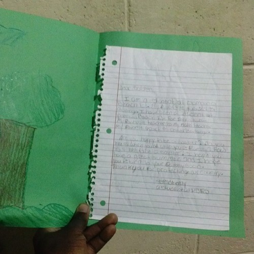 Heart warming letter from this kid. This i will cherish. Truly grateful. #carepackage