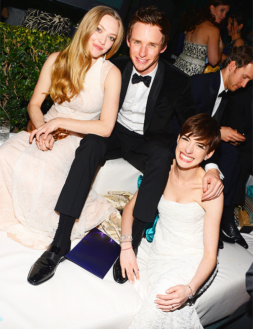 A. Seyfried, E. Redmayne, A. Hathaway | NBCUniversal 2013 Golden Globes After Party