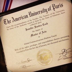 Finally official! #masters #aup #done