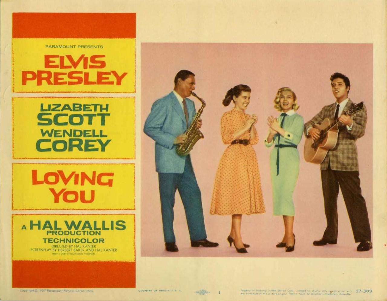 Loving You, US lobby card #1. 1957