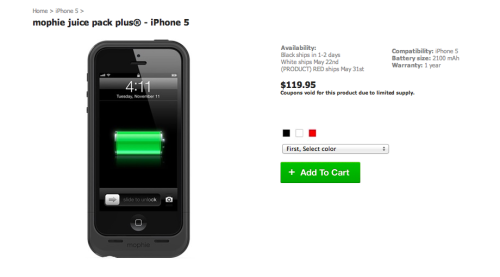 Mophie Debuts Juice Pack Plus For iPhone 5