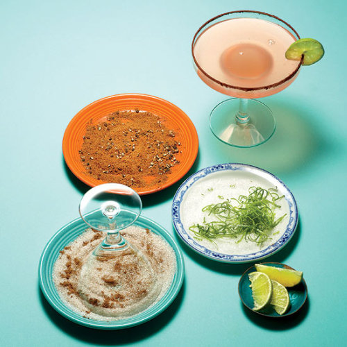 In anticipation and preparation for National Margarita Day, we're getting creative with salty, sweet and spicy rim ideas! Read more at RachaeRayMag.com.