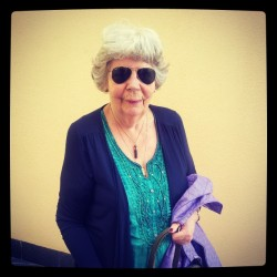 Granny rocking the rayban look :P #easter #rayban #sunglasses #granny #grandmother #family #instagramers #instalike #cool #awesome  (på/i Costa d'en Blanes)