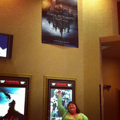 cassandraclare:  The Mortal Instruments poster in my local theater is too high up! I can't reach it!