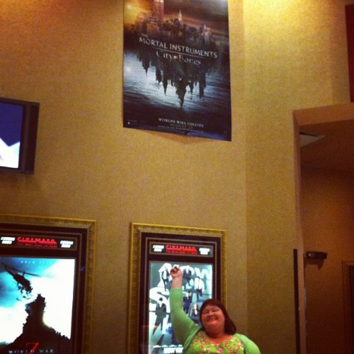 cassandraclare:  The Mortal Instruments poster in my local theater is too high up! I can't reach it!  Its above all else