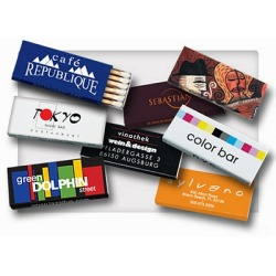 Promotional Stick Box Matches Great for bars, restaurants, hotels and tradeshows. Customized with your brand with no set up fees.