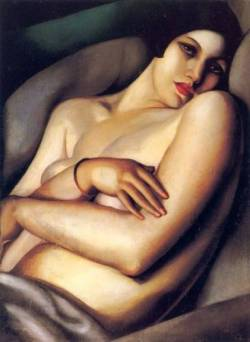 goodolarthistory:  Artist: Tamara de Lempicka Title: The Dream  Date: 1927
