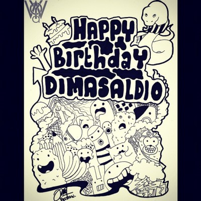 Hi. I'm back. This doodle for birthday boy @dimasaldio. Really Late post XD hahhaha