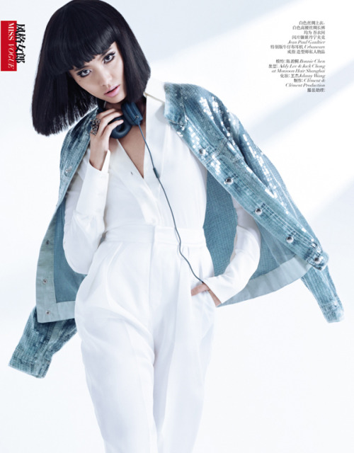 Bonnie Chen Rocks Denim By Stockton Johnson For Vogue China March |