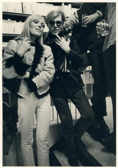 redguitarrr:  Andy Warhol and Nico, NY 1967 (Photo by Robert Lebeck)
