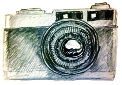 mom's camera. drawing brendan garbee