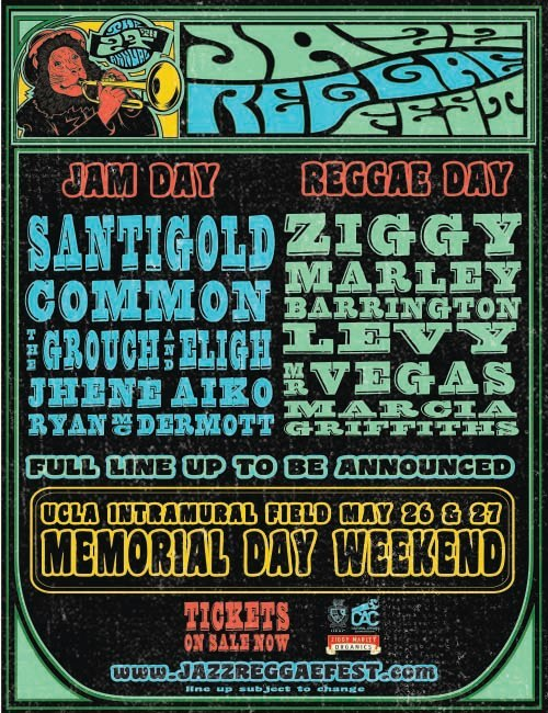 Single day tickets to the JazzReggae Festival are on sale now at Amoeba Hollywood! See Santigold, Common, Ziggy Marley and more at UCLA's Intramural Field May 26-27. See our full list of tix for sale.